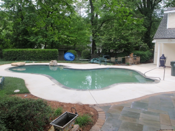 Clh power washing project gallery for Pressure clean pools